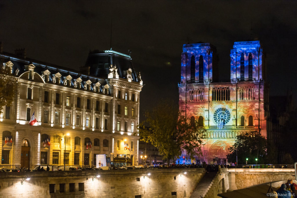mapping vidéo Notre Dame