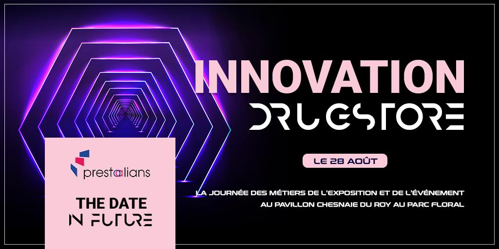 Affiche de Innovation Drugstore, espace d'échange au sein de THE DATE 2019